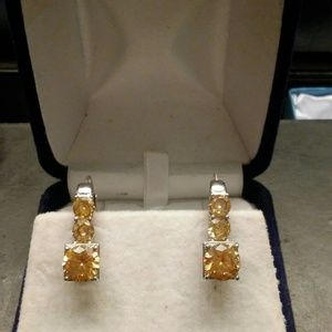 3.50ctw AAA Champagne Diamonds Stainless Steel